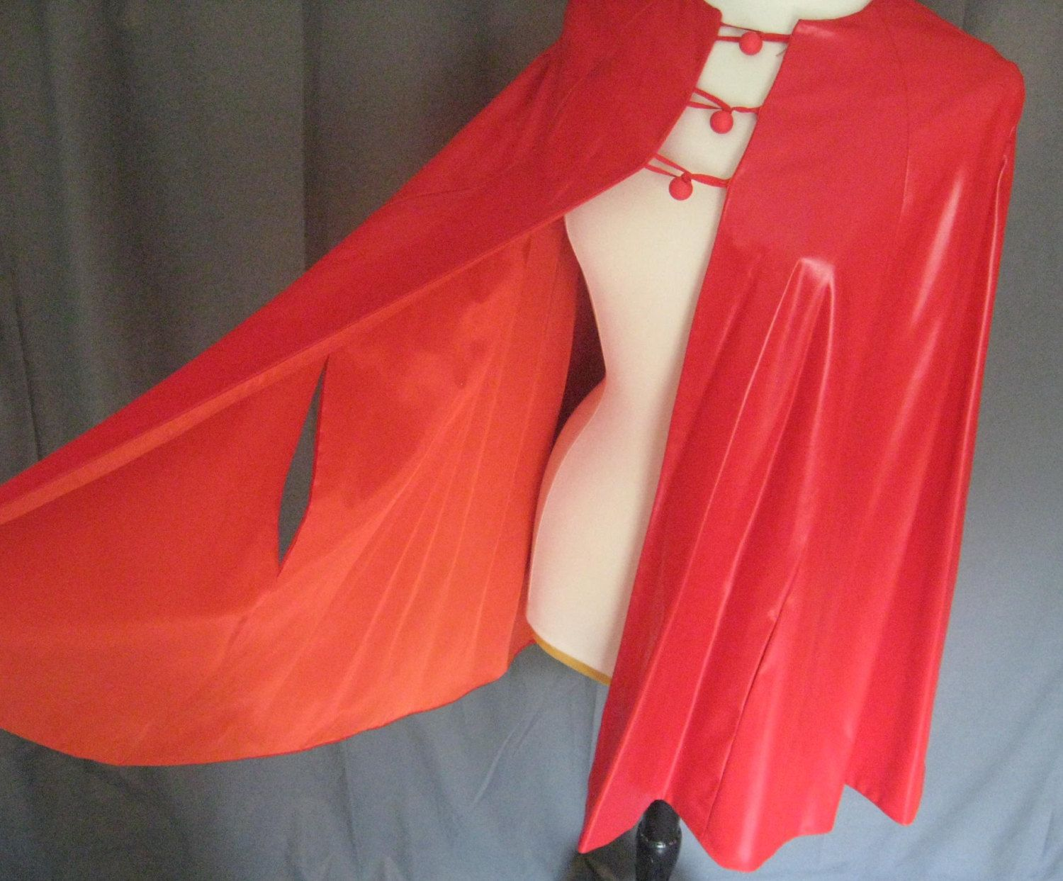 Vintage Red Devil's Cape 1960s or 1970s Luscious and by Vintage201, $25.00