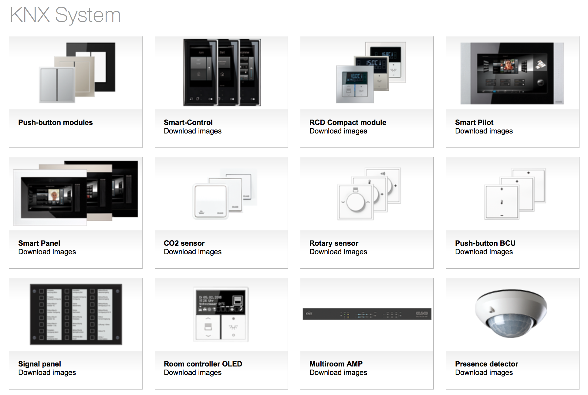 JUNG KNX System, Design Switches, Smart control, room controller ...