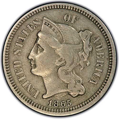 Amazon Com 1865 Nickel 3 Cent Piece Grades Vf 30 Toys Games Coin Collecting Coin Art Old Coins