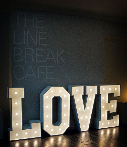 Light Up Love Glow Love Lights Letter Light Hire Gallery Tara
