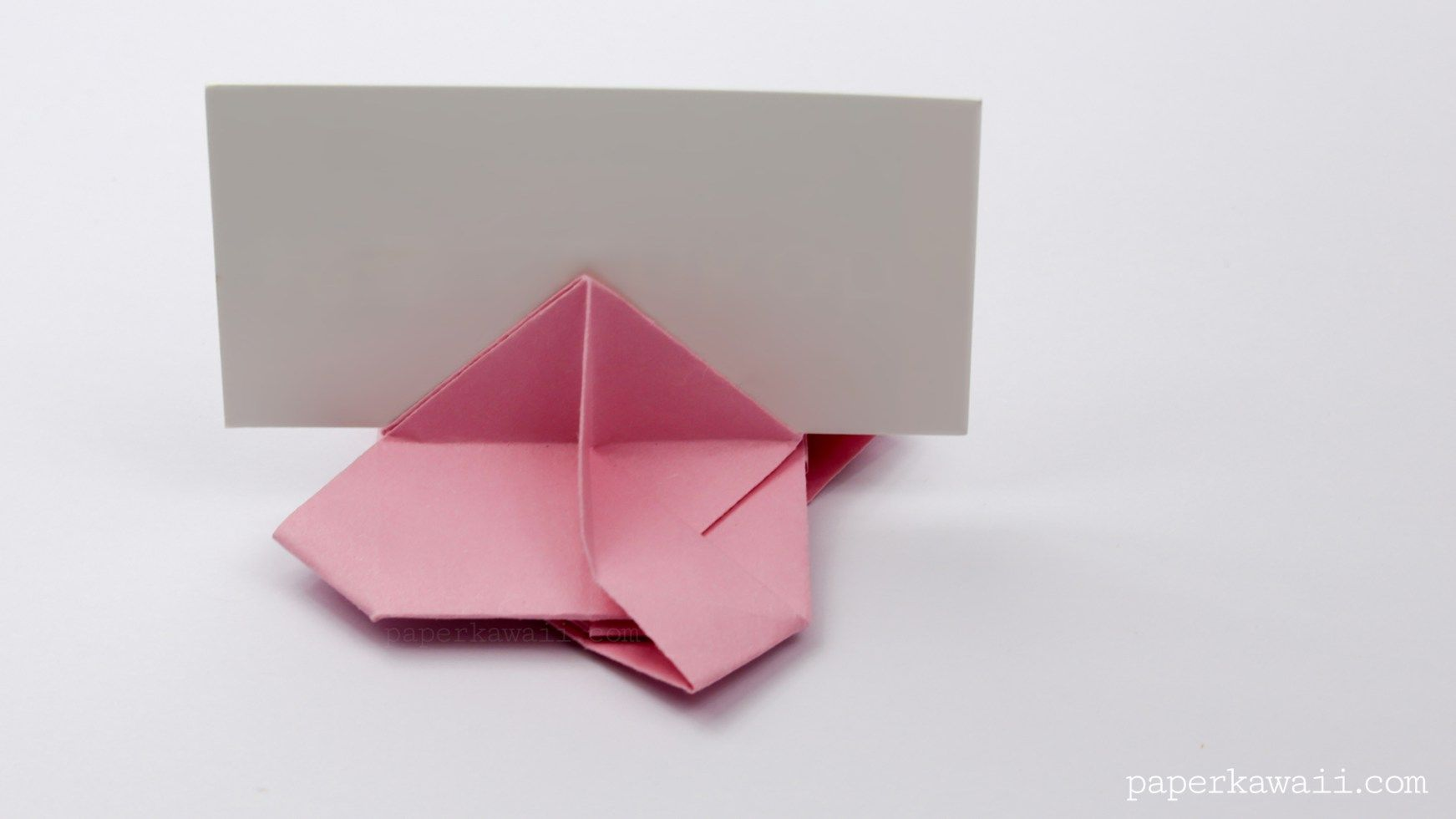 Origami Card Holder Instructions Origami Cards Origami And Cards