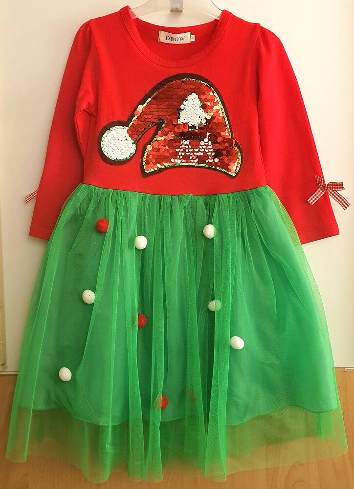 Details zu Kinder Kleid Gr. 98 Mädchen Langarmkleid Tunika ...