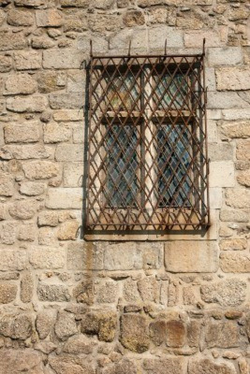 Image detail for Old Window With Rusty Metal Frame In A