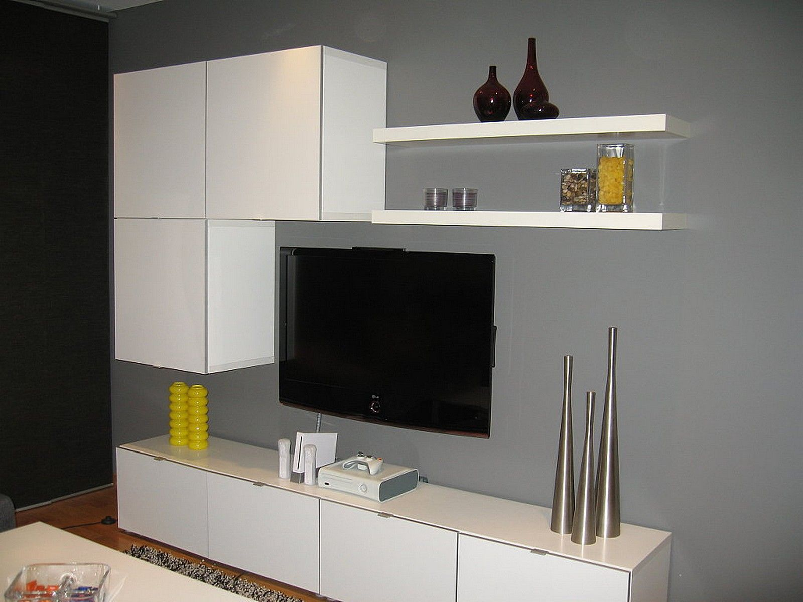 modern banc tv ikea besta cabinet bination tv meubels