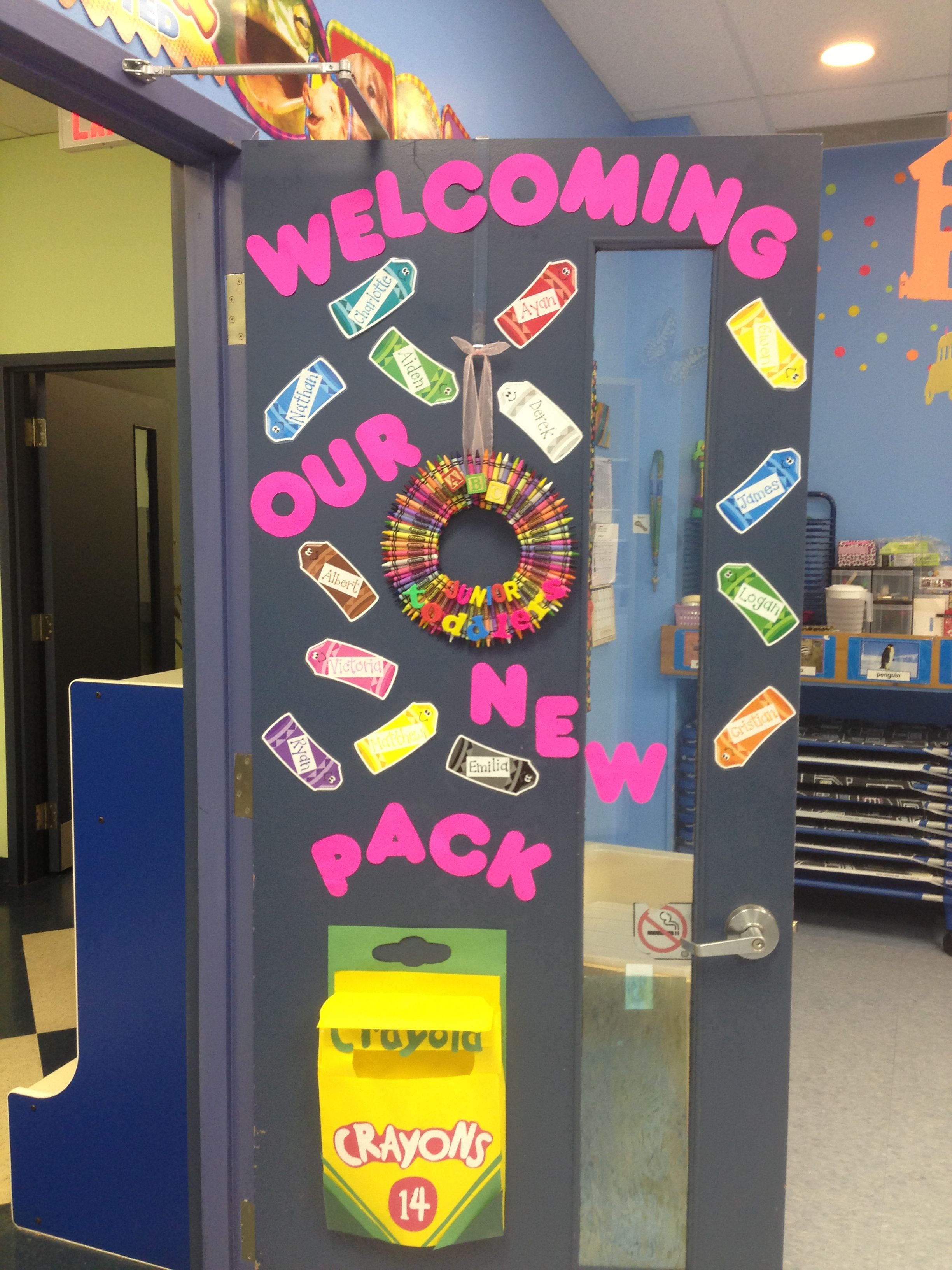 Back To School Classroom Door Quot Crayon Theme Quot My