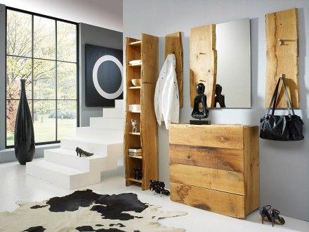 Spiegel Eiche Woodline massiv 70x190cm für Flur Pickupmöbel ...
