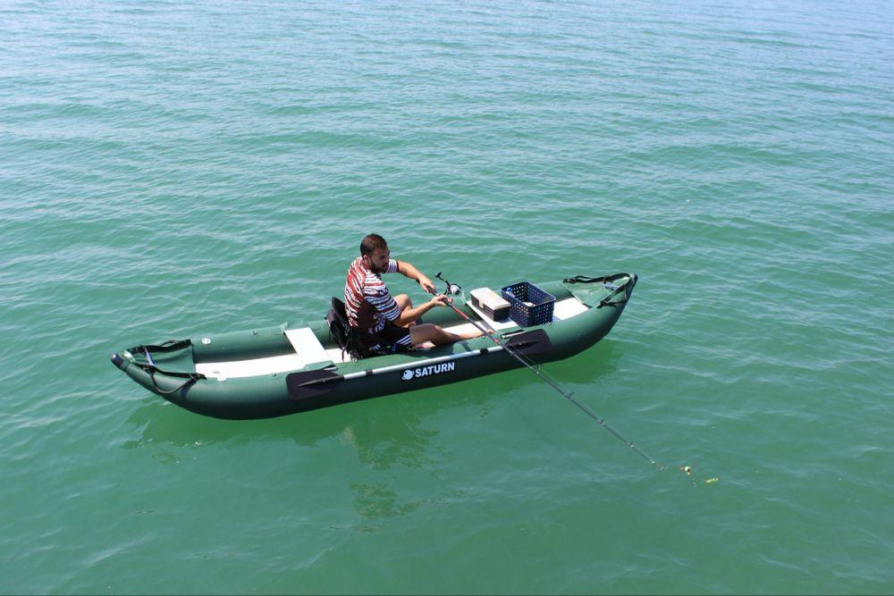 Saturn Inflatable Ocean Fishing Kayak Ofk396 Inflatable Fishing Kayak Kayaking Ocean Fishing