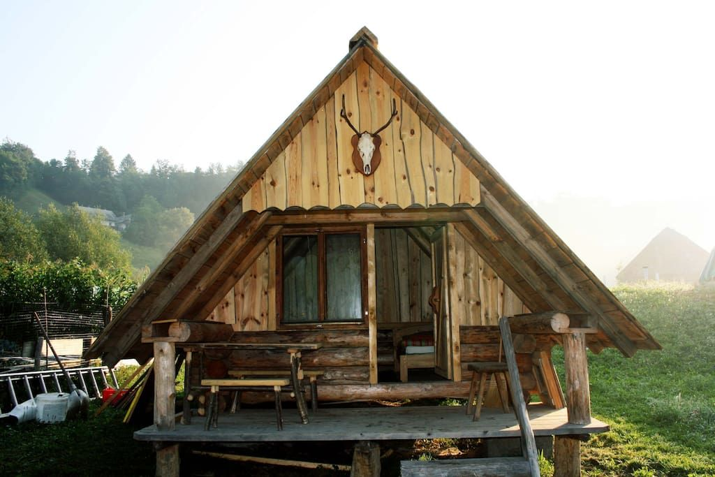 Cabin In Radovljica Slovenia Newly Built Traditional Wooden Cottage 20m From Wooden Cottage Wooden Architecture Cabin