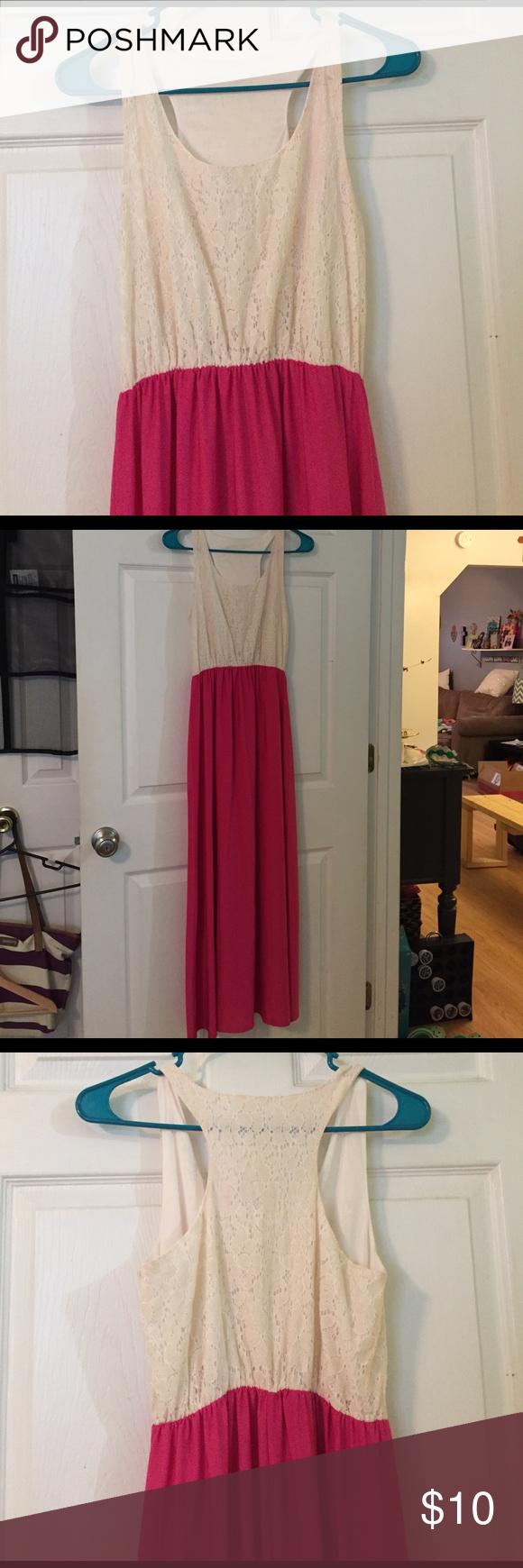 Pink u cream lace maxi dress lace maxi short girls and maxi dresses