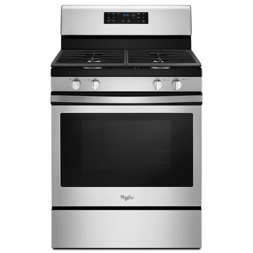 Samsung 30 In 5 8 Cu Ft Gas Range With Self Cleaning And Fan