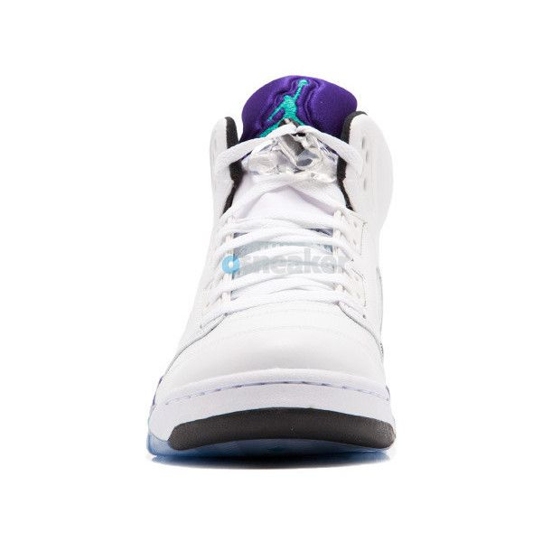 Air Jordan 5 Retro Grape 2013 ($240) ❤ liked on Polyvore featuring air jordan 5