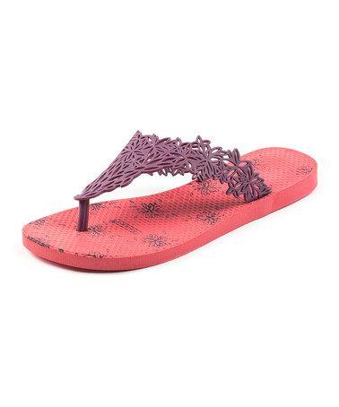 Look at this #zulilyfind! Purple & Pink Hawaii Flip-Flop #zulilyfinds