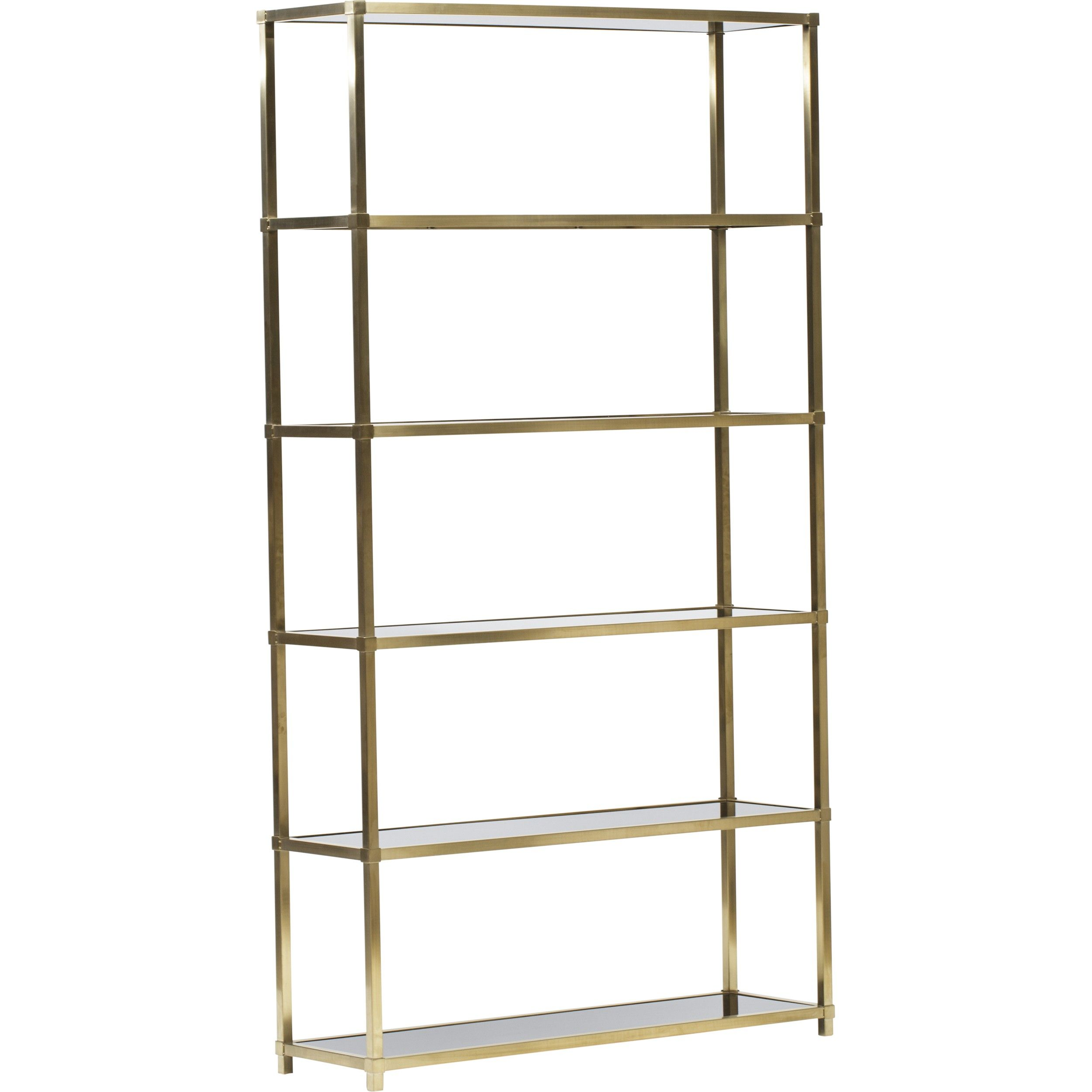 Benton Etagere Brass With Mahogany Black Solid Shelves 48w 14d 88h.  Furniture StorageHome FurnitureModern ...