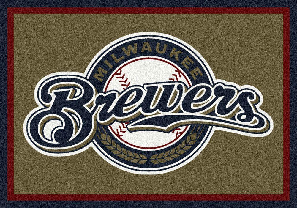 Milwaukee Brewers Area Rug Mlb baseball logo, Mlb teams