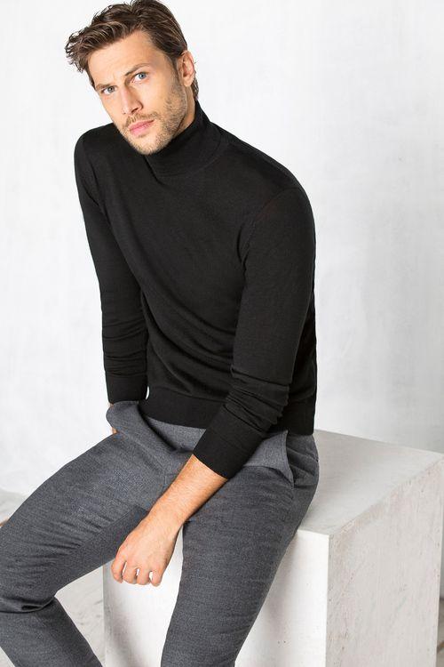 Jersey De Cuello Cisne En Lana Merino Moda Hombre Invierno Moda Hombre Jersey Hombre