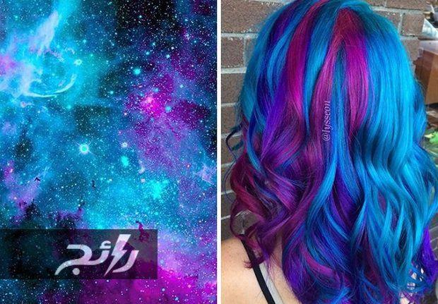 صور مدهشة لألوان شعور فتيات مستوحاة من قوس قزح موقع رائج Galaxy Hair Color Best Hair Dye Hair Styles