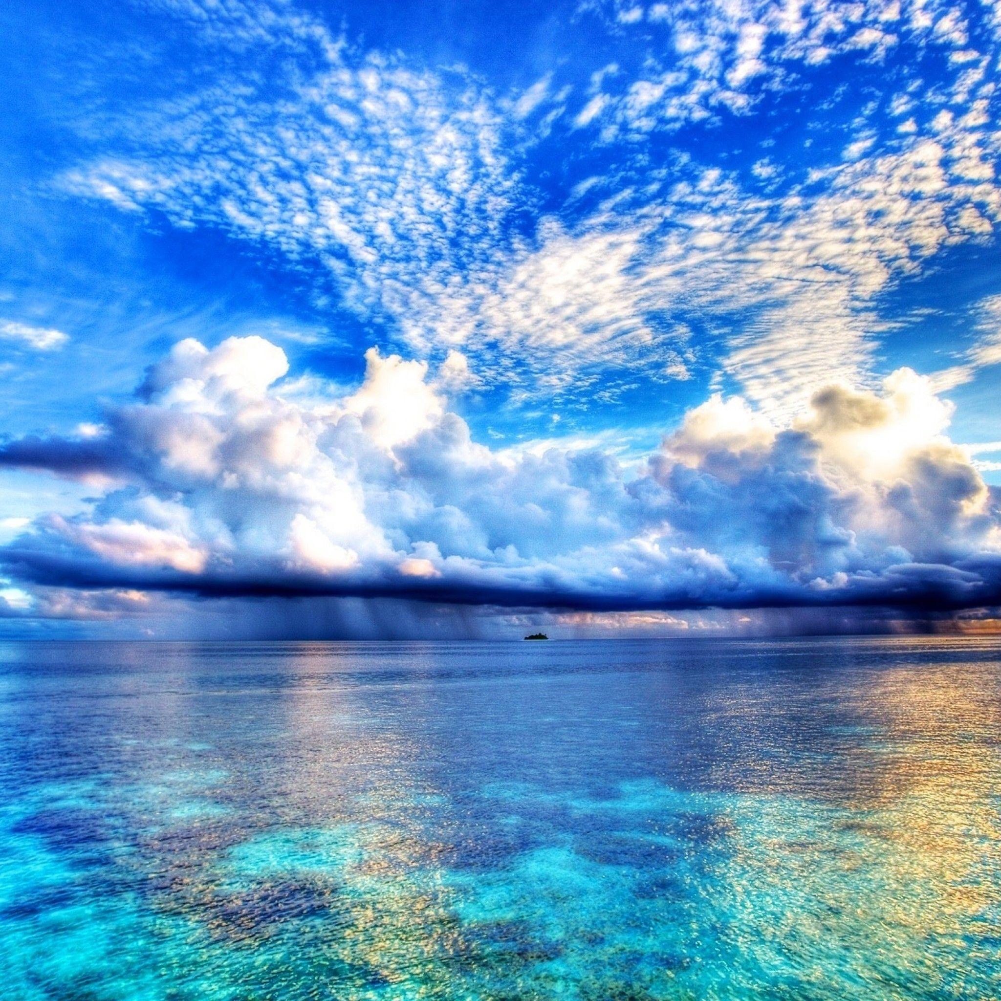 人気3位 海 ビーチの壁紙 雲の壁紙 空 写真