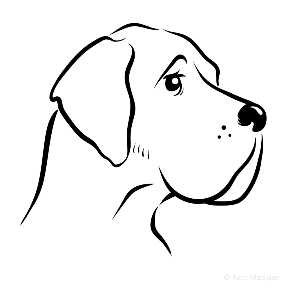 39 respect 39 black and white line drawing of a melancholy great dane dog commissioned as a sticker. Black Bedroom Furniture Sets. Home Design Ideas