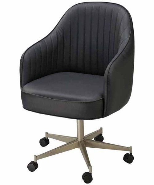 Regal Bucket Seat Large Dining Chair With Arms On Casters Large