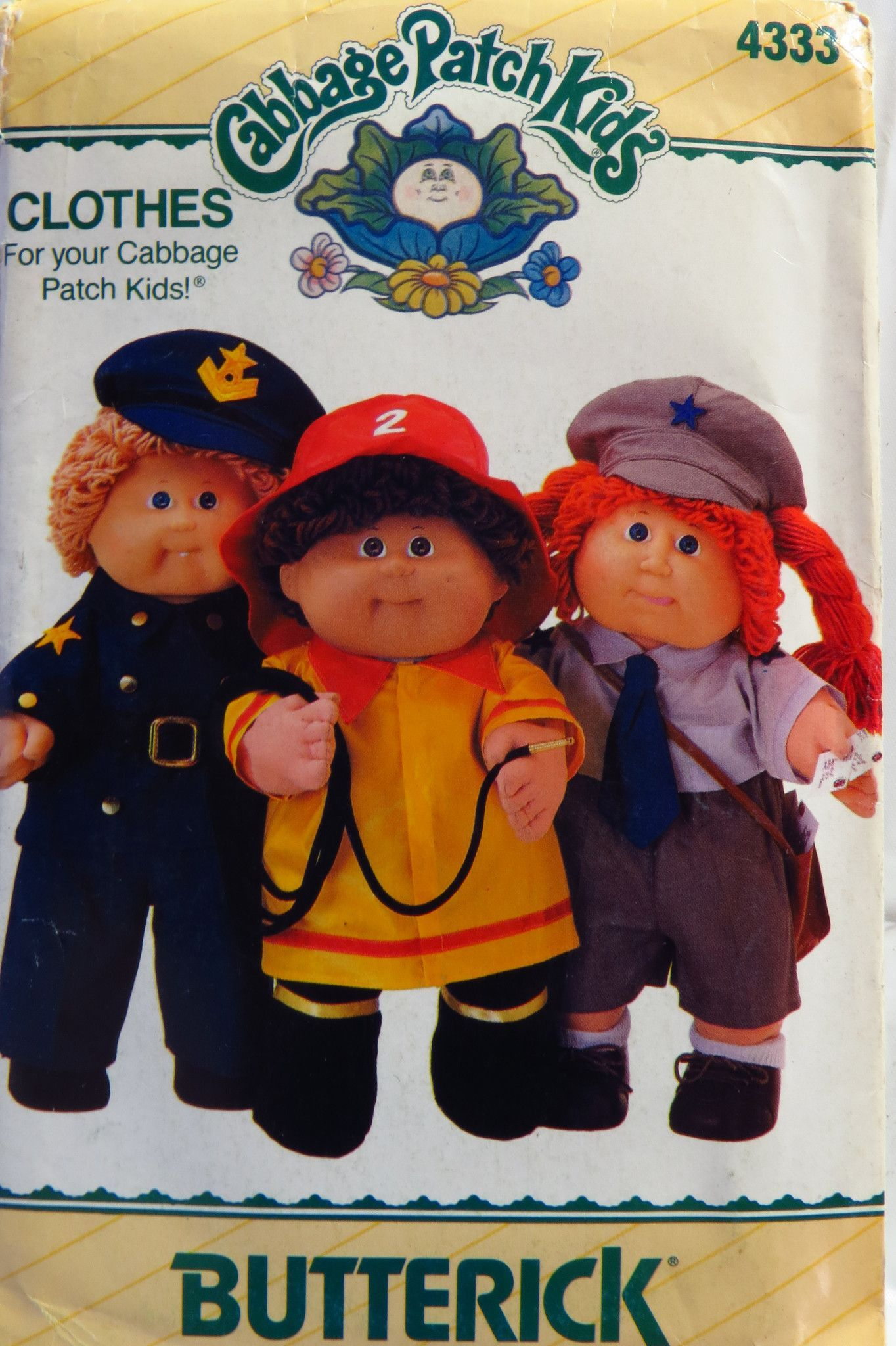 Butterick 4333 Cabbage Patch Kids Doll Clothes | Pinterest