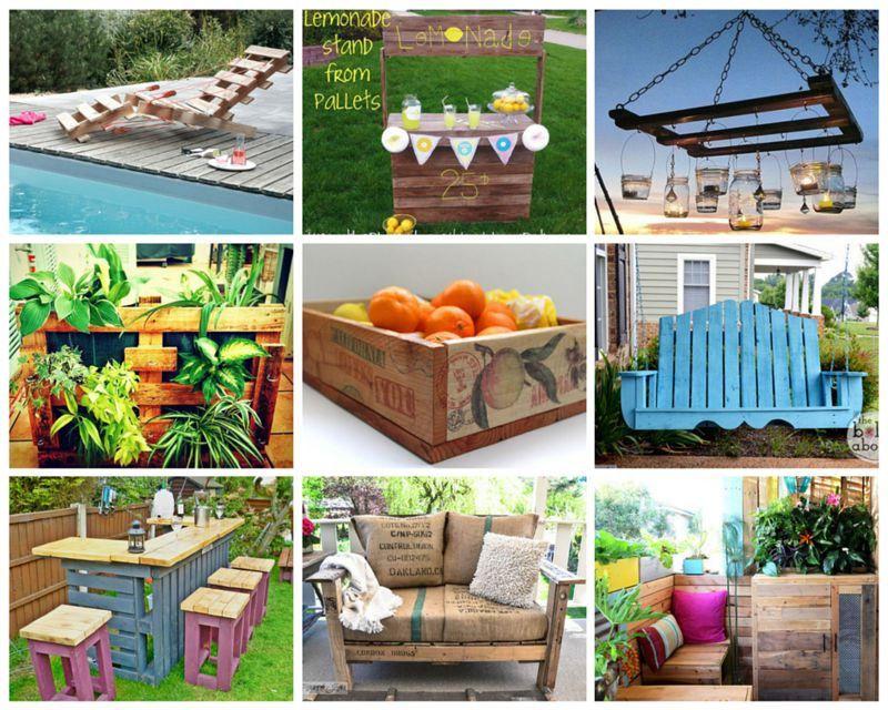 Ideas originales para reusar palets en el jard n ideas - Ideas originales jardin ...