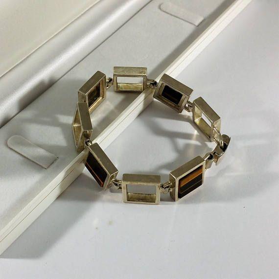 Bracelet Silver 925 eye massive 50s rar SA109 Bracelet Silver 925 eye massive 50s rar SA109