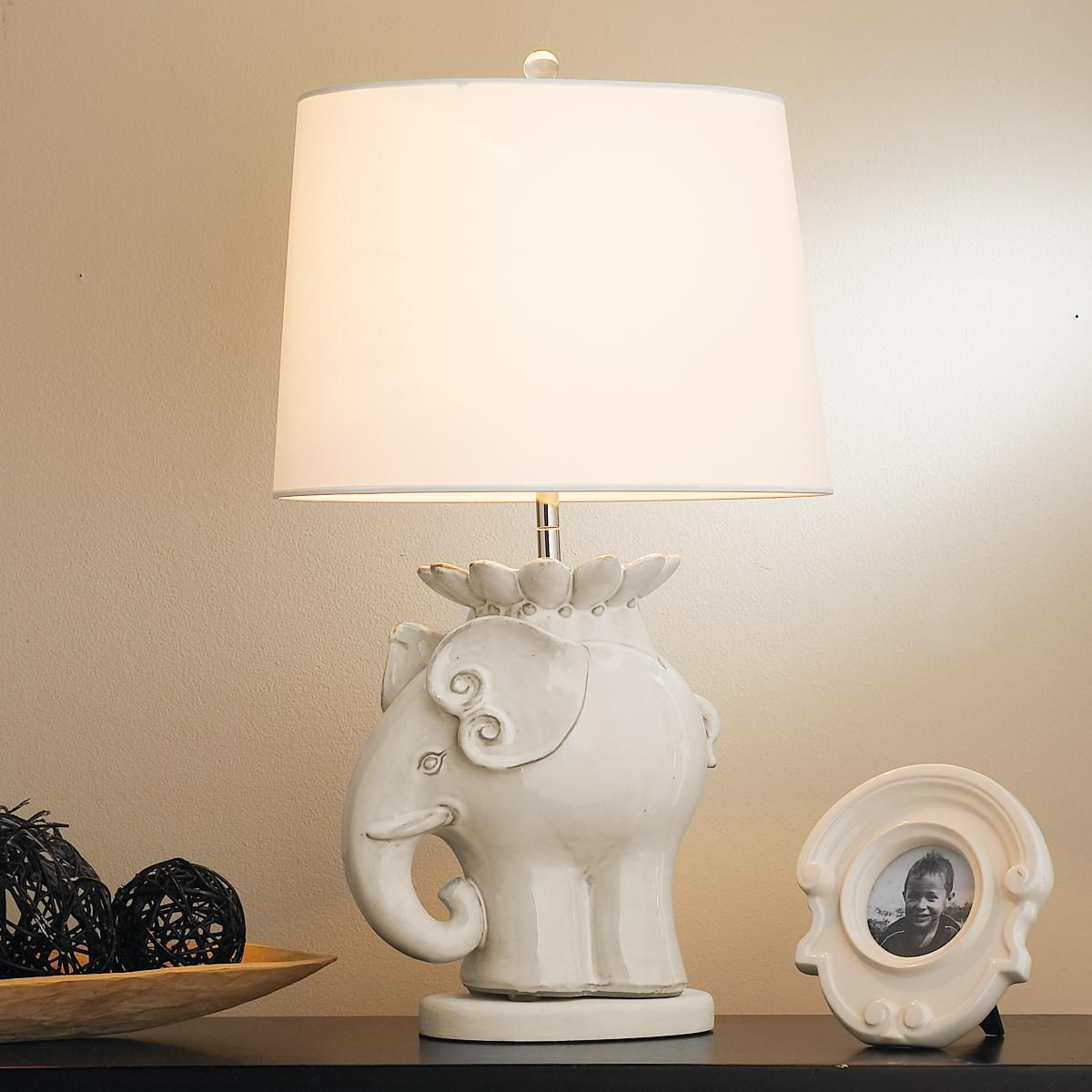 Ceramic Elephant Table Lamp