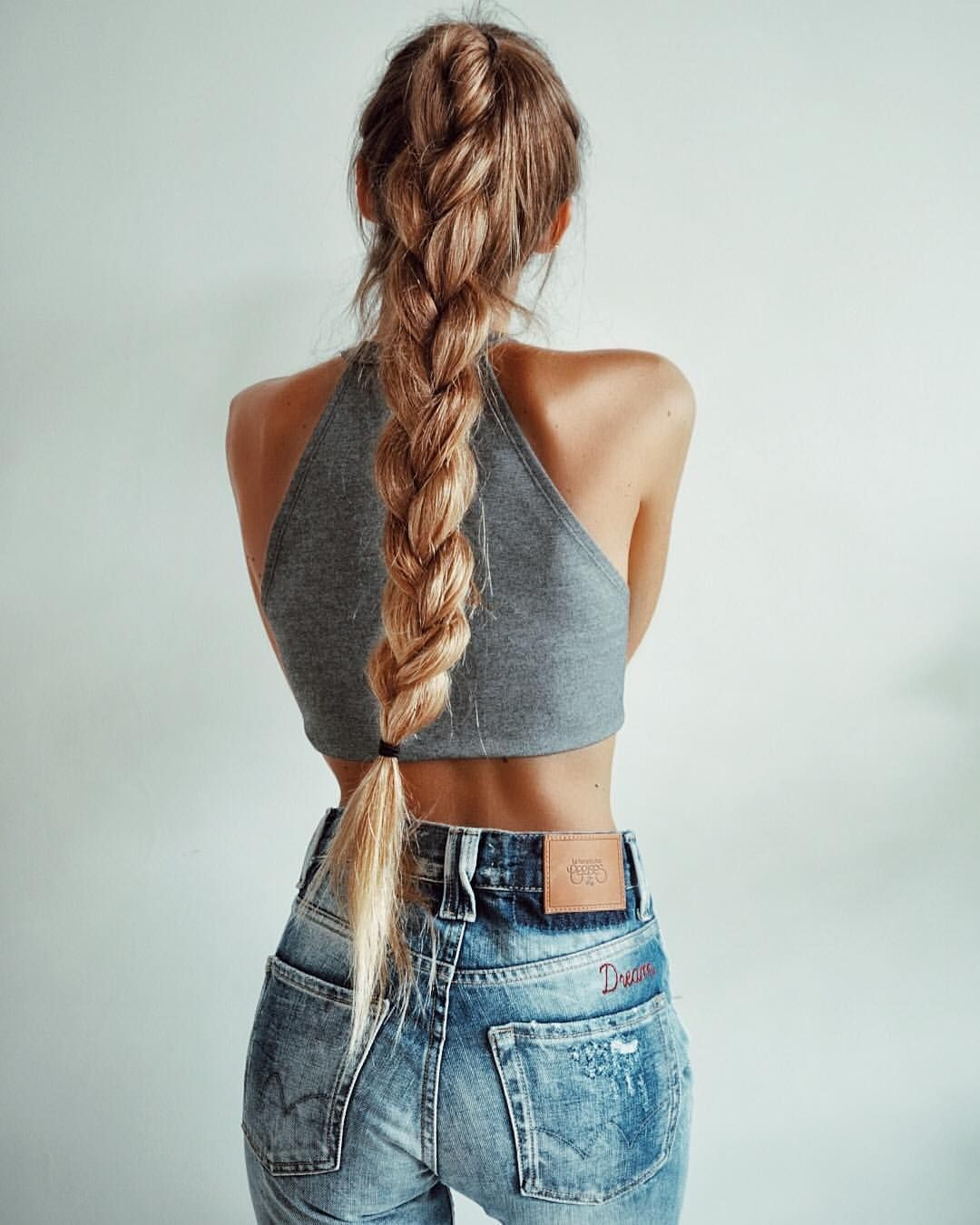 Fat classic french braid Love it  Hair pony tails  Pinterest