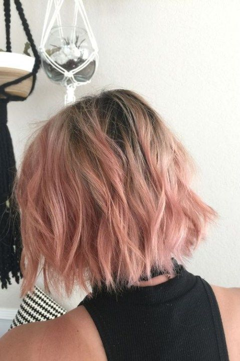 10 Pretty Pastel Hair Color Ideas With Blonde Silver Purple And Pink Highlights Pink Short Hair Thick Hair Styles Hair Styles