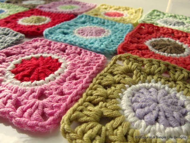 Granny\'s Gone Dotty - polka dot granny square | Crochet | Pinterest ...