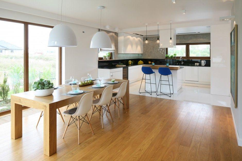 Salon Otwarty Pomysl Na Biale Wnetrze Kitchen Interior Home Scandinavian Interior Design