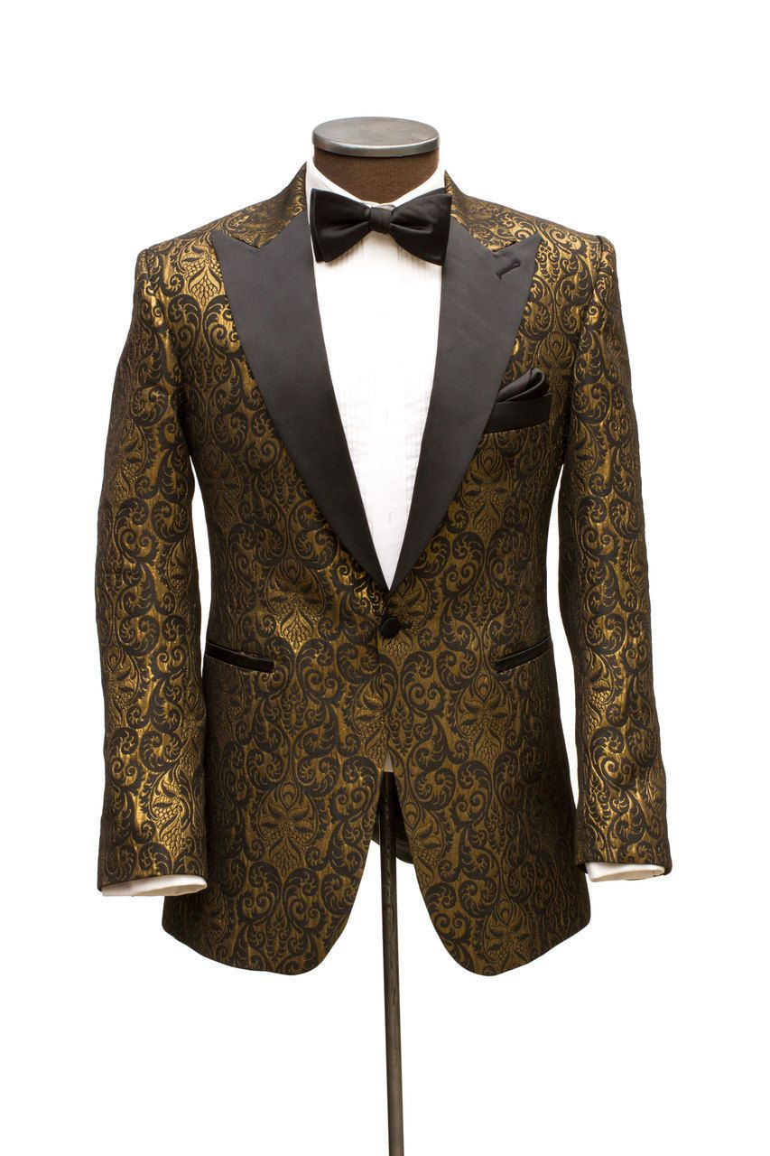 The Manhattan Black   Gold Brocade Dinner Jacket - Cabaret Vintage ... fe60eb009ac1