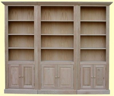 Maple Emby Bookcase Wall Unit W
