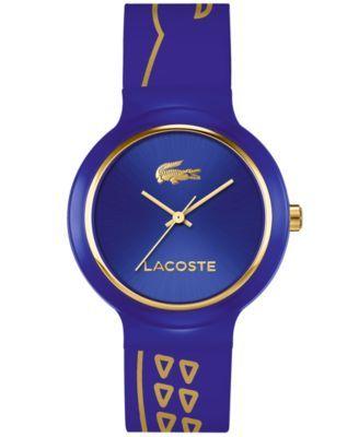 Lacoste Unisex Goa Blue Silicone Strap Watch 40mm 2020086