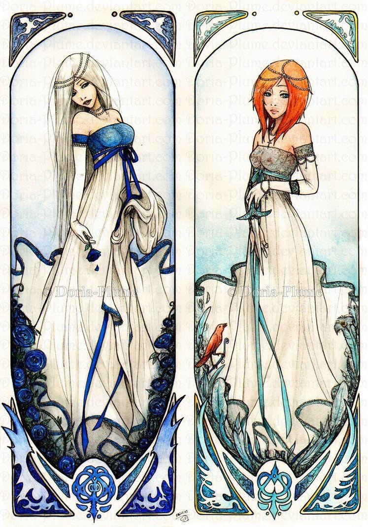 "Mucha Style - Modern Illustration in style of ""Alphonse Mucha"""