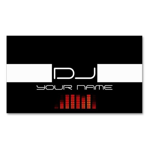Cool dj business card this great business card design is available cool dj business card this great business card design is available for customization all colourmoves