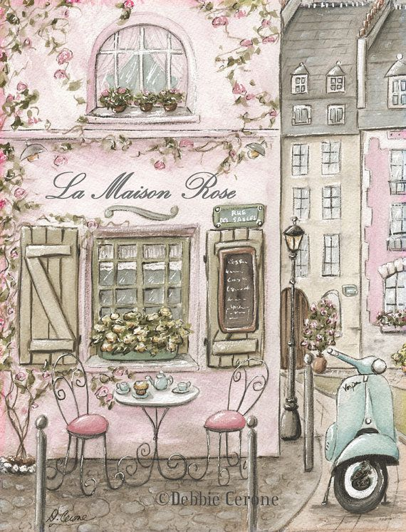 Paris Bedroom Decor Personalized Paris Cafe Watercolor Print Etsy Pink Paris Art Paris Wall Art Paris Art Print