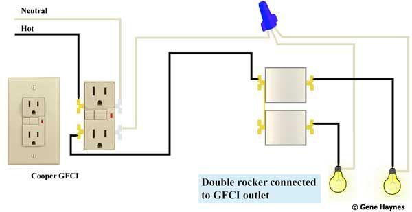 eb5c55a75c734100777fde507aeddc1d wire double rocker switch to gfci house lighting fans lights GFCI Switch Wiring Diagram at edmiracle.co