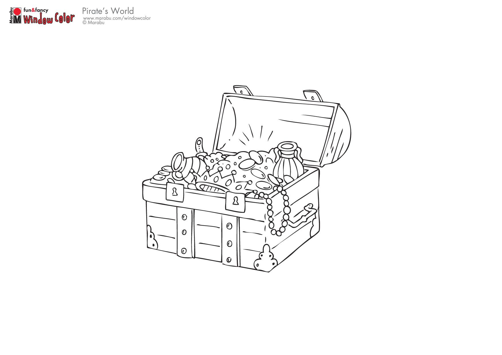 Treasure Chest Coloring Pages Doodles Drawings
