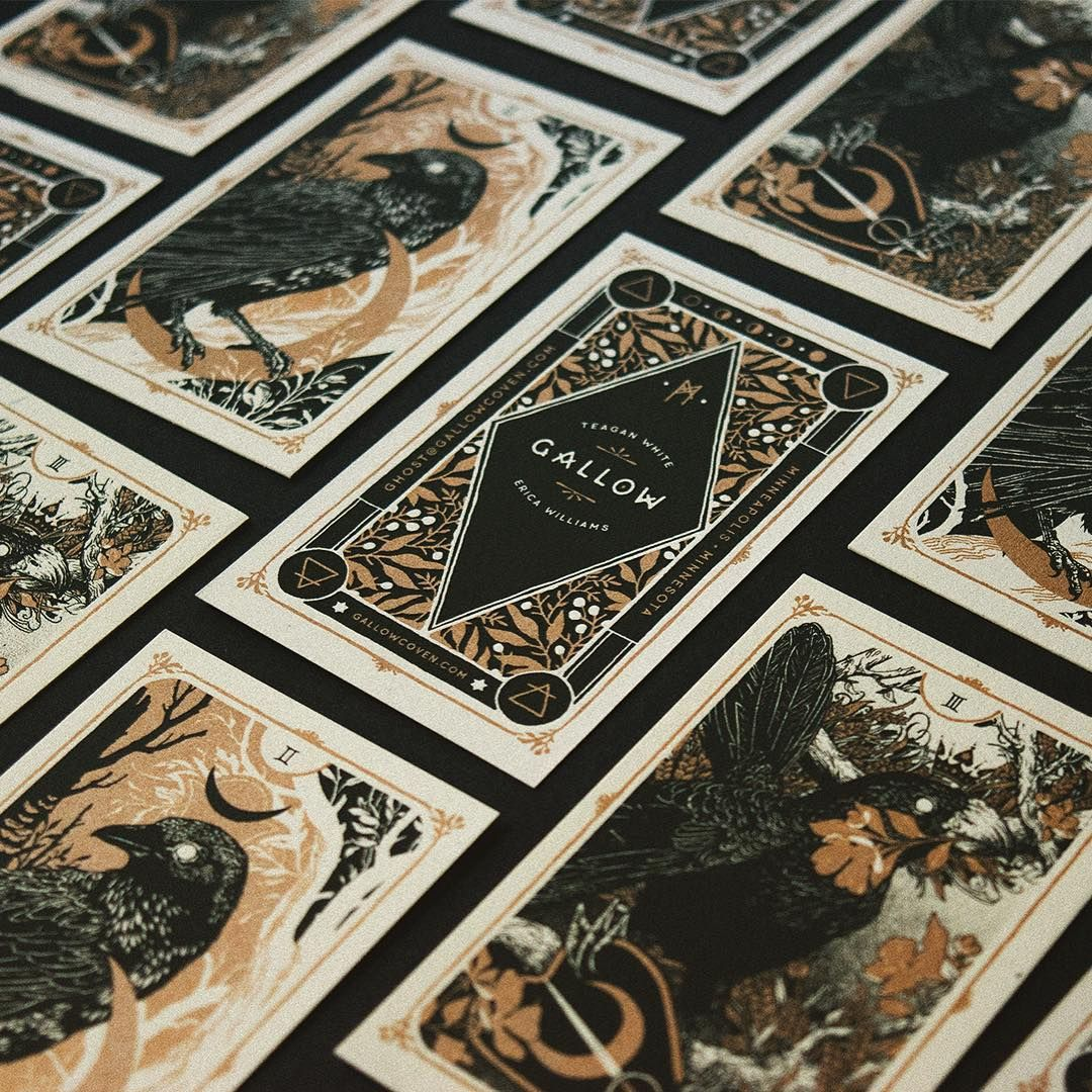 Tarot inspired business cards for Gallow. Teagan White & Erica ...