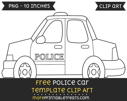 free police car template clipart clipart files pinterest