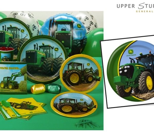 John Deere Tractor \u2013 Dinner Plates \u2013 8 Pack $7.95 Includes (8) paper  sc 1 st  Pinterest & John Deere Tractor \u2013 Dinner Plates \u2013 8 Pack | John deere party