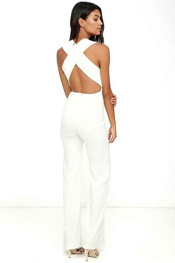 ffa11611c4 THINKING OUT LOUD WHITE BACKLESS JUMPSUIT