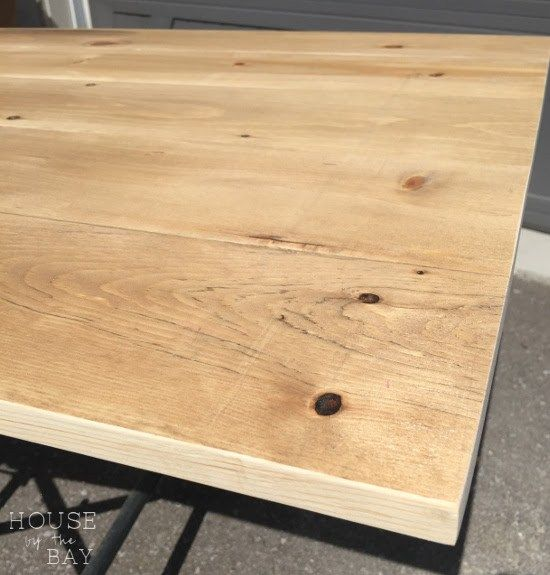 How To Build An Inexpensive Diy Wood Tabletop House By The Bay Design Wood Diy Diy Table Top Diy Wood Desk
