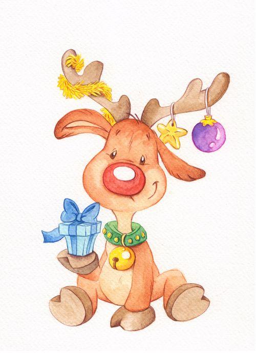 Weihnachtsbilder Elch.Christmas Reindeer Druckvorlagen Motive Weihnachten Clipart