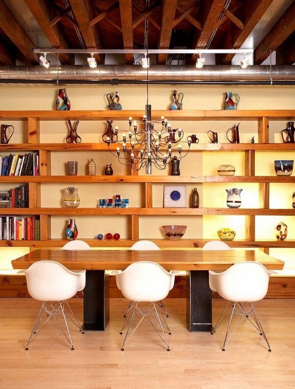 bois-de-salle-à-manger-table-à-manger-chaises-blanches