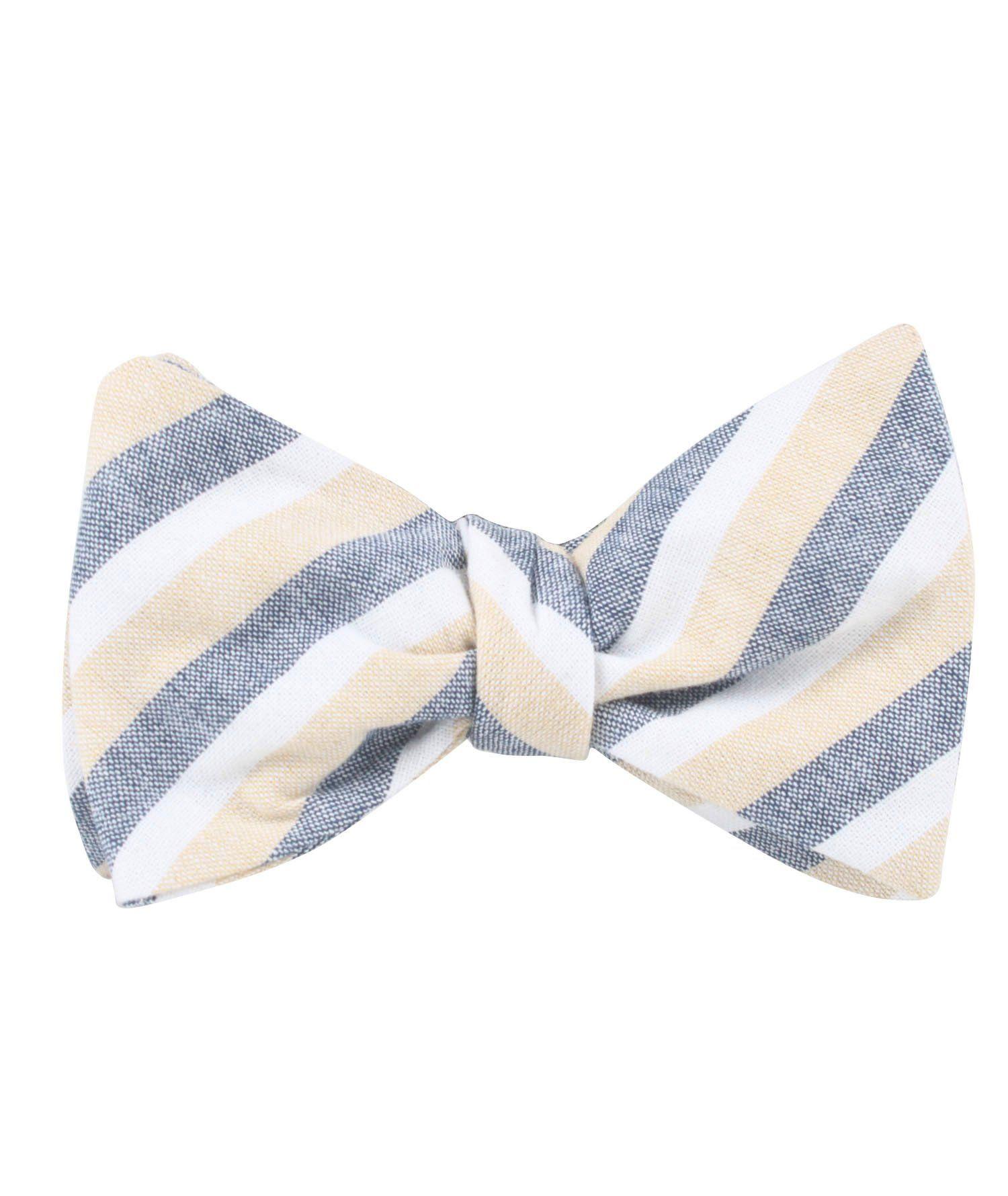 2908123666d8 New York Striped Self Bow Tie   Men's Tuxedo Suit Bow Ties UnTied for Men
