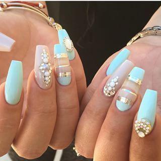 Uñas A Acrilicas Mejores Equipos Ballerina Nails Mint