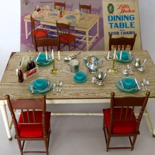 Vintage Marx Little Hostess Dining Table Dollhouse Furniture