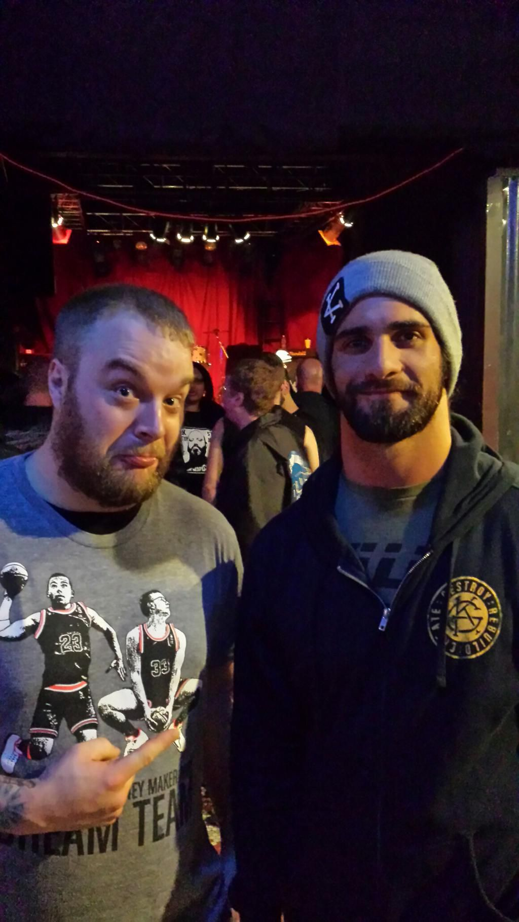 @WWERollins Thanks for taking a picture with me last night. You're a class act.
